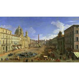 Posters Obraz, Reprodukce - View of the Piazza Navona, Rome, (1697-1768) Canaletto